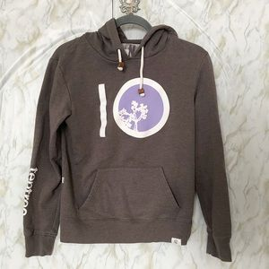 Tentree small hoodie brown purple pullover active